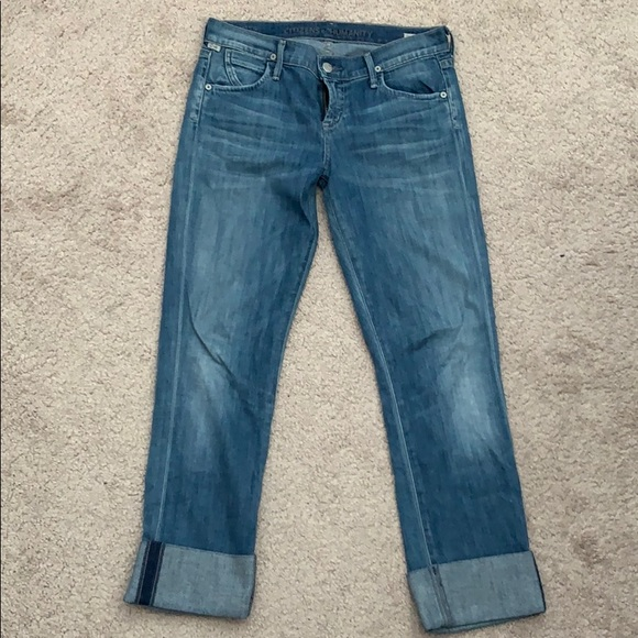 Citizens Of Humanity Denim - CITIZENS OF HUMANITY Cropped Straight Leg Jeans